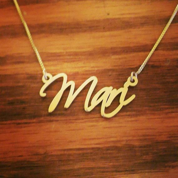ORDER ANY NAME 18k Gold Plated Name Necklace   Little Liars Necklace   Personalized Signatur Name Necklace  Custom made nameplate