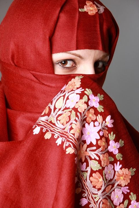 Muslima, 이슬람 여자, 눈, 패션, 전통, 의류, 문화, 믿어, 이슬람교도, 숨겨진, 히잡