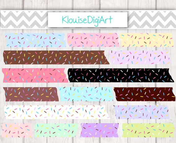 Chocolate Mint Strawberry Donut Sprinkles by KlouiseDigiArt