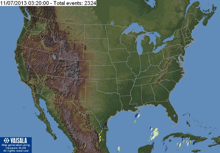 Real Time Lightning Map