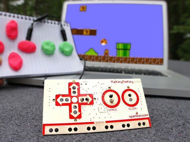 MaKey MaKey sells invention kits for anyone interested in creating new electrical inventions with a control pad and alligator clips. The site is based on research at MIT Media Lab's Lifelong Kindergarten.