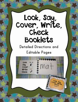 Word Lists: Look Say Cover Write Check