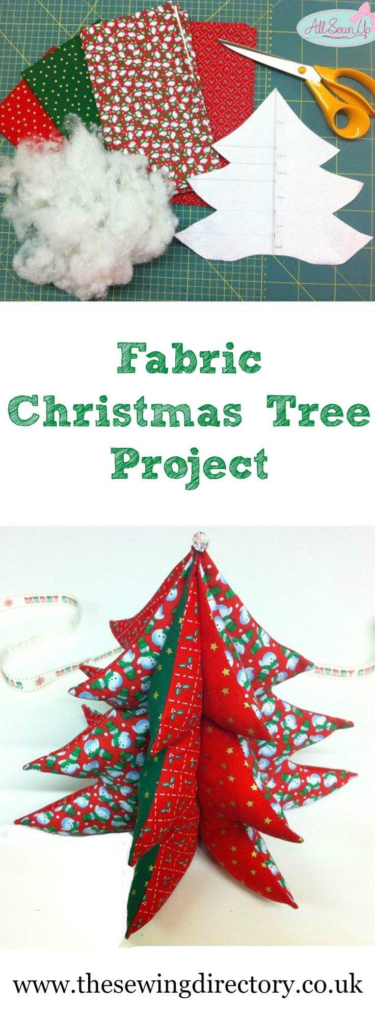 Sew a fabric Christmas tree with this great free tutorial
