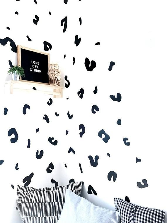 3d Black Background Leopard Wallpaper Removable Self Etsy Leopard Wallpaper Feature Wall Wallpaper Leopard Wall
