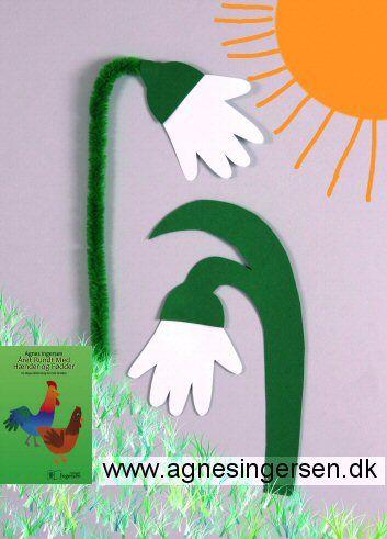 Vi har lavet vintergækker fra min bog Året Rundt Med Hænder Og Fødder. På bloggen finder du vejledning, skabelon og billeder fra bogen. Husk at give mig noget credit når du bruger mine ideer.  Her er indlægget på bloggen:  http://agnesingersen.dk/blog/vintergaekkeraaret - handprint, Easy kids crafts - Kinderbastelideen