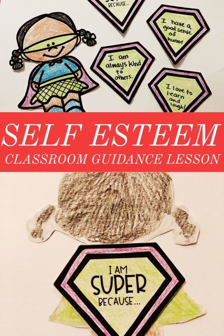Elementary school counseling classroom guidance lesson to explore self esteem and self respect. Create a superhero self esteem craft to explore reasons why students are super! -Counselor Keri