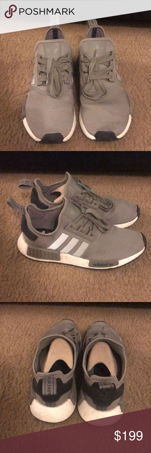 Rare Adidas NMD R1 ba7249 olive, khaki, black 2016 Rare Adidas NMD R1 ba7249 olive, khaki, black 2016. Original box included with cardboard shoe inserts. You can still get these new for $260. These are mint condition worn 4-5 Times. adidas Shoes Sneakers