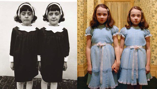 """Identical Twins, Roselle, New Jersey, 1967,"""" by Diane Arbus / """"The Shining"""" (1980)"""