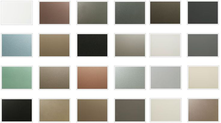 coloured glass splashback colour chart