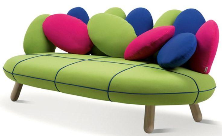 Gumdrop-Looking Sofa In Vivid Colors | DigsDigs