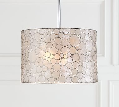 """Marina Drum Pendant  Overall: 26"""" diam. x 10"""" h  2 60W also flush mount and other shapes"""