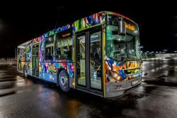 NUART STREET ART BUS by Martin Whatson (NO)
