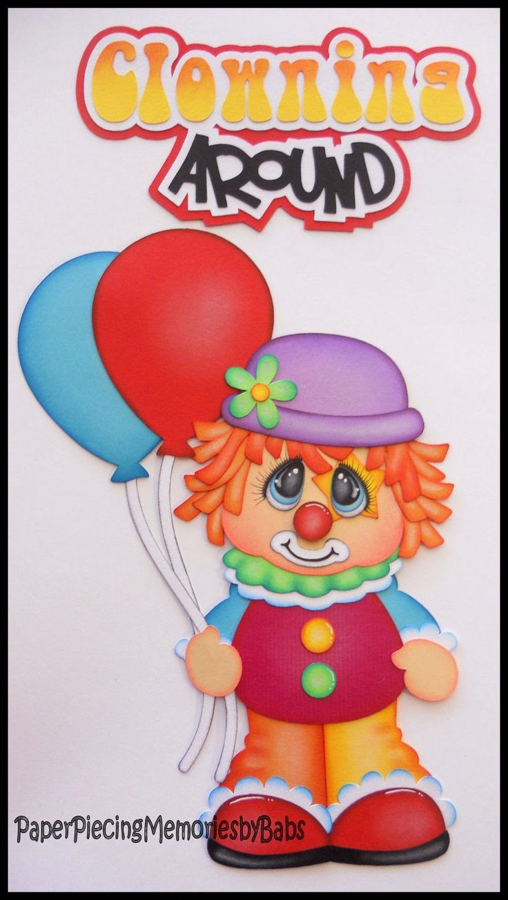 Paper pieced clown created by PAPER PIECING MEMORIES BY BABS using patterns from Cuddly Cute Designs.