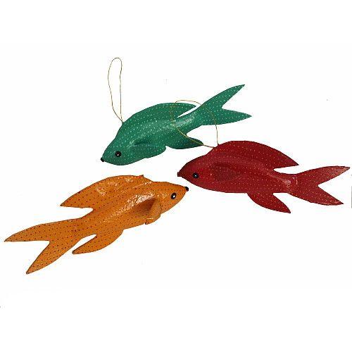 South African papier mache fish Gorgeous little pieces
