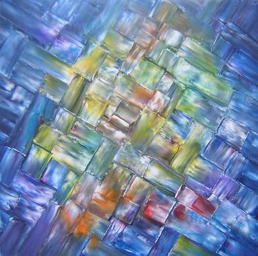 CITYSCAPES I Original Oil Painting 24 x 24 by John Robert Jurisich