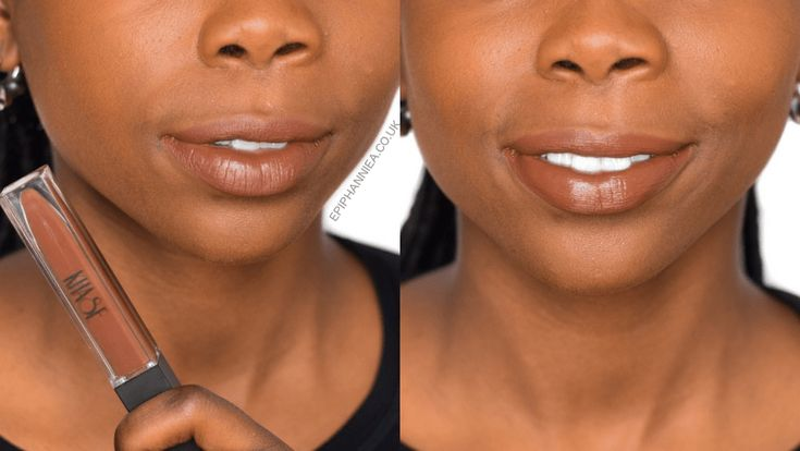 Khase Coco Matte Liquid Lipstick -   Dark Skin Swatch - Review - Nude Brown Lipstick - @EpiphannieA