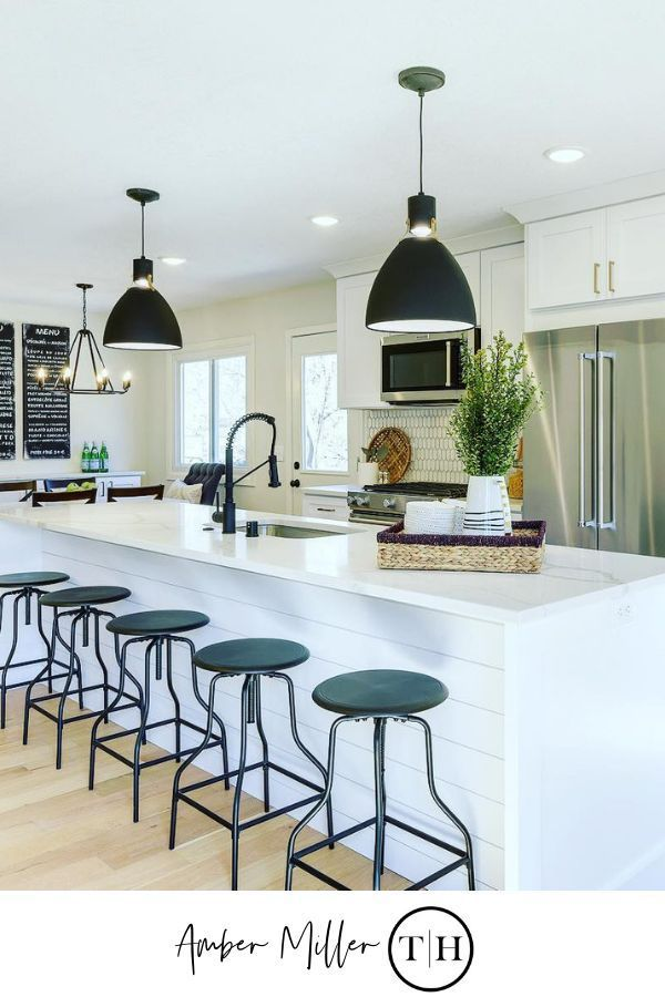 Ideas For Unique Light Fixtures Kitchen Island Lighting Ideas By Amber Miller Of Thresholdho Kitchen Bar Lights Lighting Fixtures Kitchen Island Kitchen Layout