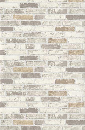 Brix - Brick - Effect - Wall - Cream / Beige / Taupe - Textured - Wallpaper