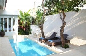 Private pool at villa santai
