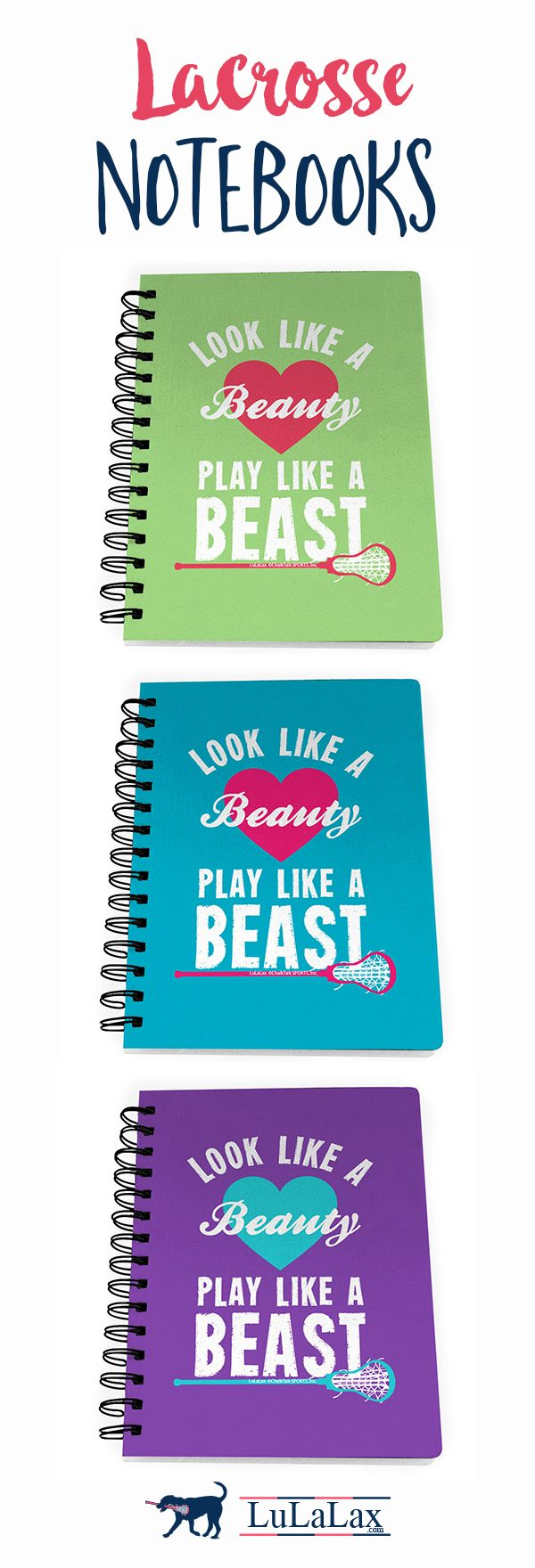 Our adorable spiral-bound notebooks are the perfect back to school gift for  your lax girl!