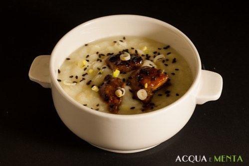 #Passato di #cavolfiore con #pollo marinato per #mtc53 #mtchallenge #zuppe