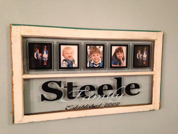 Hey, I found this really awesome Etsy listing at https://www.etsy.com/listing/186251968/old-window-picture-frame-and-family-name