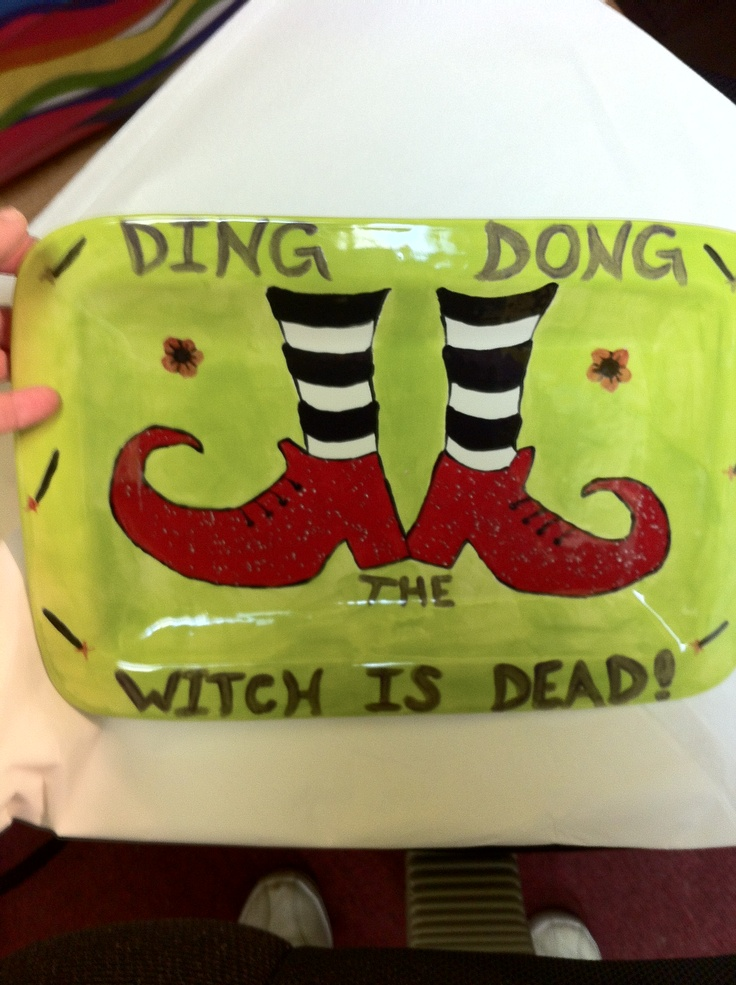 DING DONG have witch shoes on a panel - Haven't been the same since that house fell on my sister.
