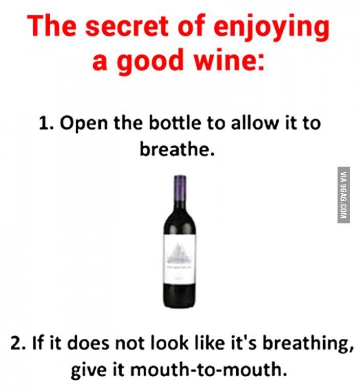The secret of enjoying a good wine