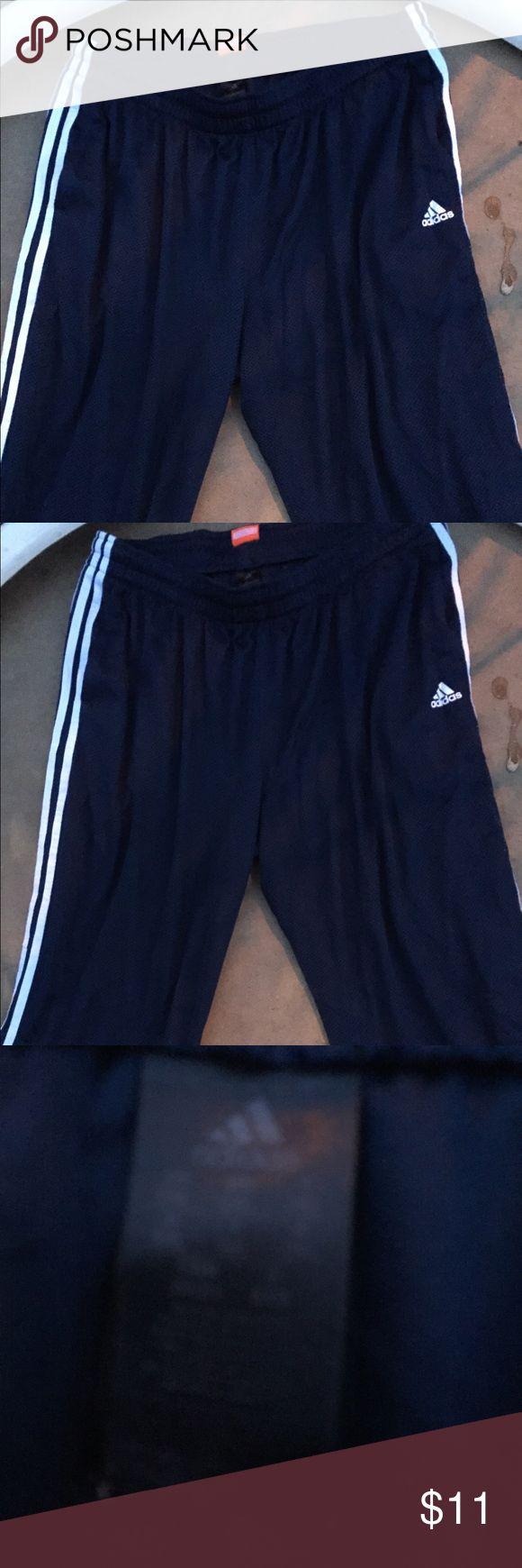 Adidas basketball pants Good Condition Dark blue adidas Pants Sweatpants & Joggers