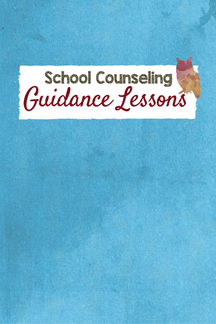 School Counseling Guidance Lessons for elementary and middle school counselors.  Lesson plans, hands on projects, curriculum for school counseling programs.