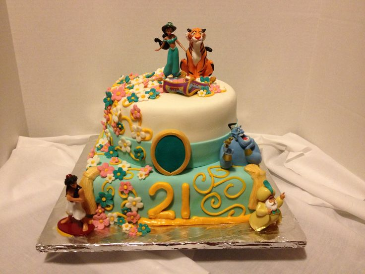 Princess Jasmine Aladdin Birthday Cake Princess