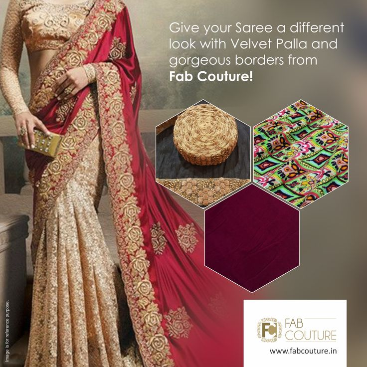 Give your Saree a different look with Velvet Palla and gorgeous borders with #FabCouture! #DesignerFabric at #AffordablePrices.  Buy your stock of fabric from: https://fabcouture.in/fabrics/plains/velvet.html #DesignerDresses #Fabric #Fashion #DesignerWear #ModernWomen #Saree #DesiLook #Embroidered #WeddingFashion #EthnicAttire #WesternLook #affordablefashion #GreatDesignsStartwithGreatFabrics #LightnBrightColors #StandApartfromtheCrowd #EmbroideredFabrics