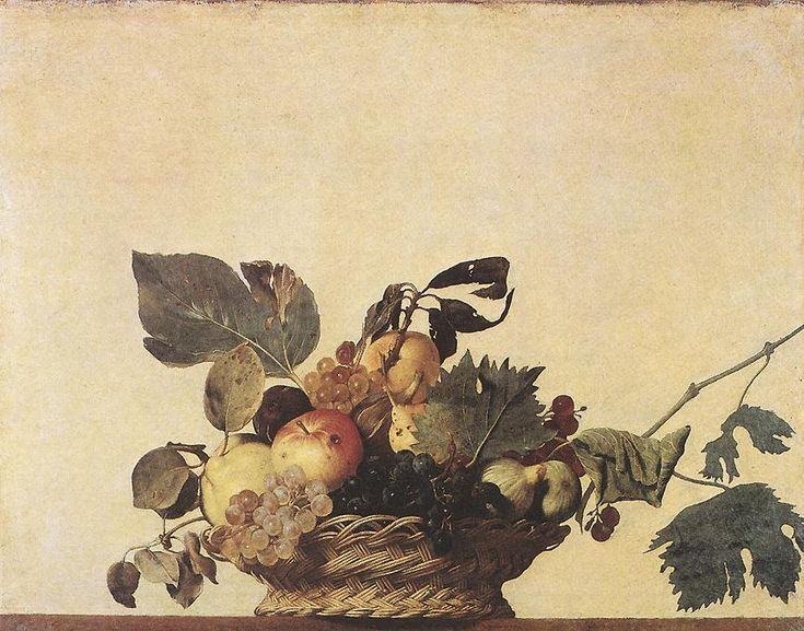 Caravaggio, Basket of Fruit (c.1599) Oil on canvas. Bibliotheca Ambrosiana, Milan