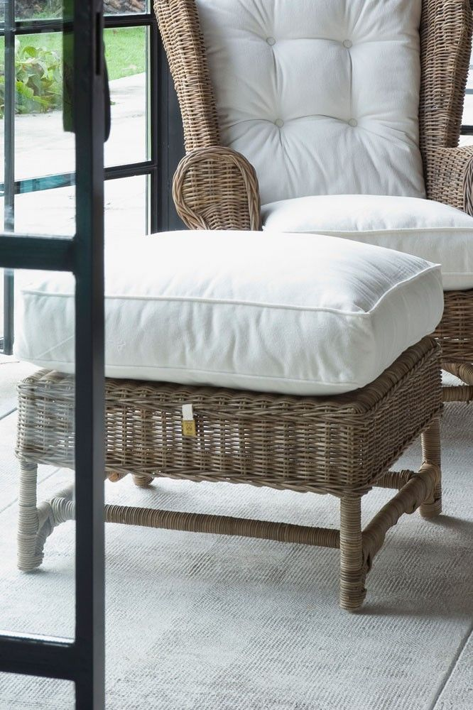 Riviera Maison, rattan Wing Chair and Footstool