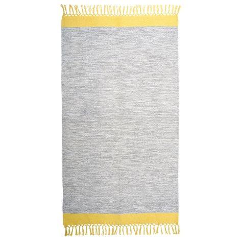 Matta KONTRAST grå/gul | Interiør på nett | Lagerhaus.no