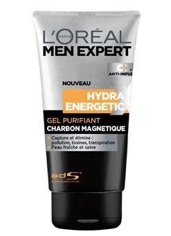 Hydra Energetic Xtreme Gel Nettoyant Charbon magnétique - L'Oréal Men Expert: Facial Care, Men S Facial, Men'S, L Oréal Paris, Energetic Magnetic