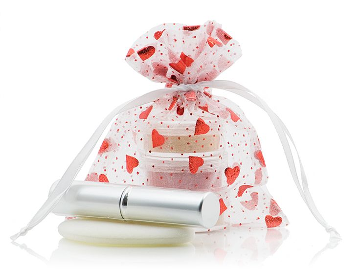Jenulence Mineral Makeup Gift Set includes foundation, blush, finishing powder and cosmetic brush.