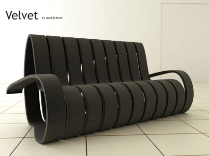 'Velvet' is the name of the amazing sofa designed by creative designers  Andrea Fino
