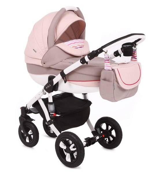 Детская коляска Adamex 2в1 Avila 22P  Цена: 300 USD  Артикул: mp60430  Детская коляска Adamex 2в1 Avila – новинка 2015 года. Легкая алюминиевая рама с двойным амортизатором, накачиваемые колеса, два из которых поворотные, обеспечивают комфорт передвижения по любому покрытию. Благодаря применению адаптера типа click-clack можно легко и быстро менять модули. Модель отличается современным и элегантным дизайном. Люльку и прогулочный блок можно установить лицом или спиной по направлению движения…