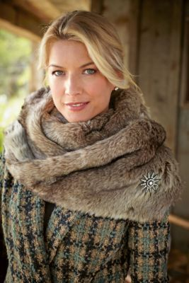 Faux Fur Infinity Scarf from Soft Surroundings.