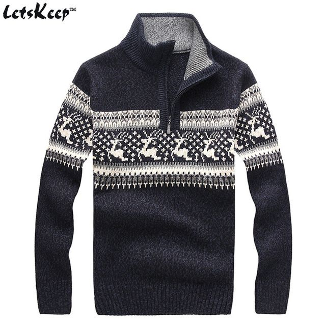 Best Offer $32.39, Buy New LetsKeep 2016 mens christmas deer sweaters wool turtleneck sweater men pullover thick knitted christmas sweater mens,MA260