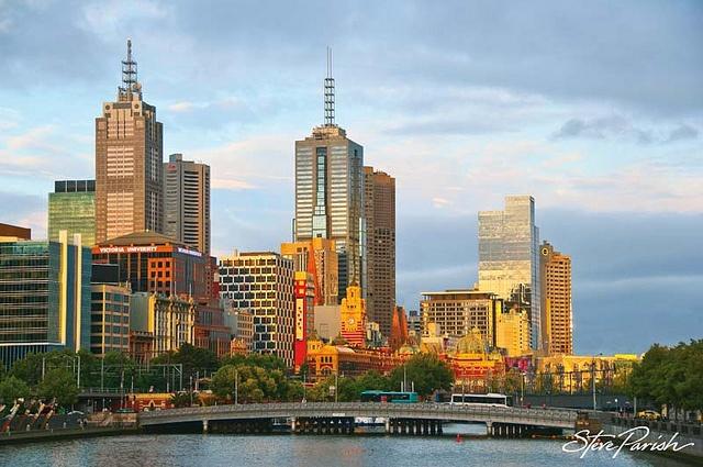 Melbourne skyline, Vic by steveparish, via Flickr Victoria Australia