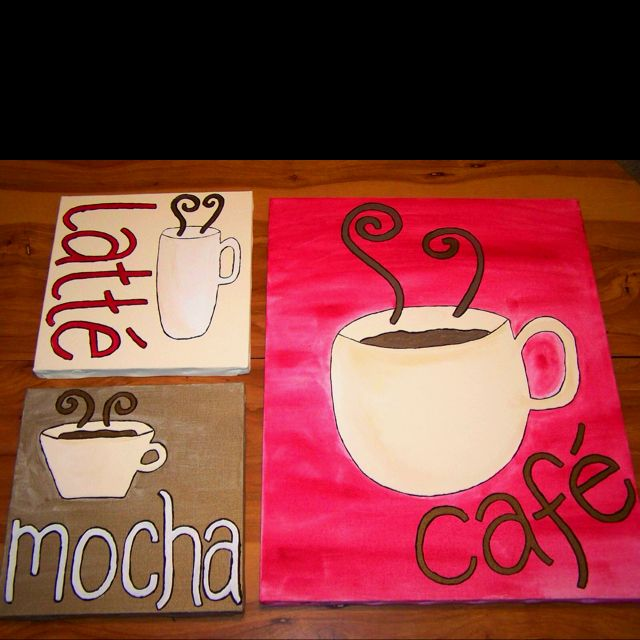 Coffee Kitchen These Are Cute And Totally Diy Able