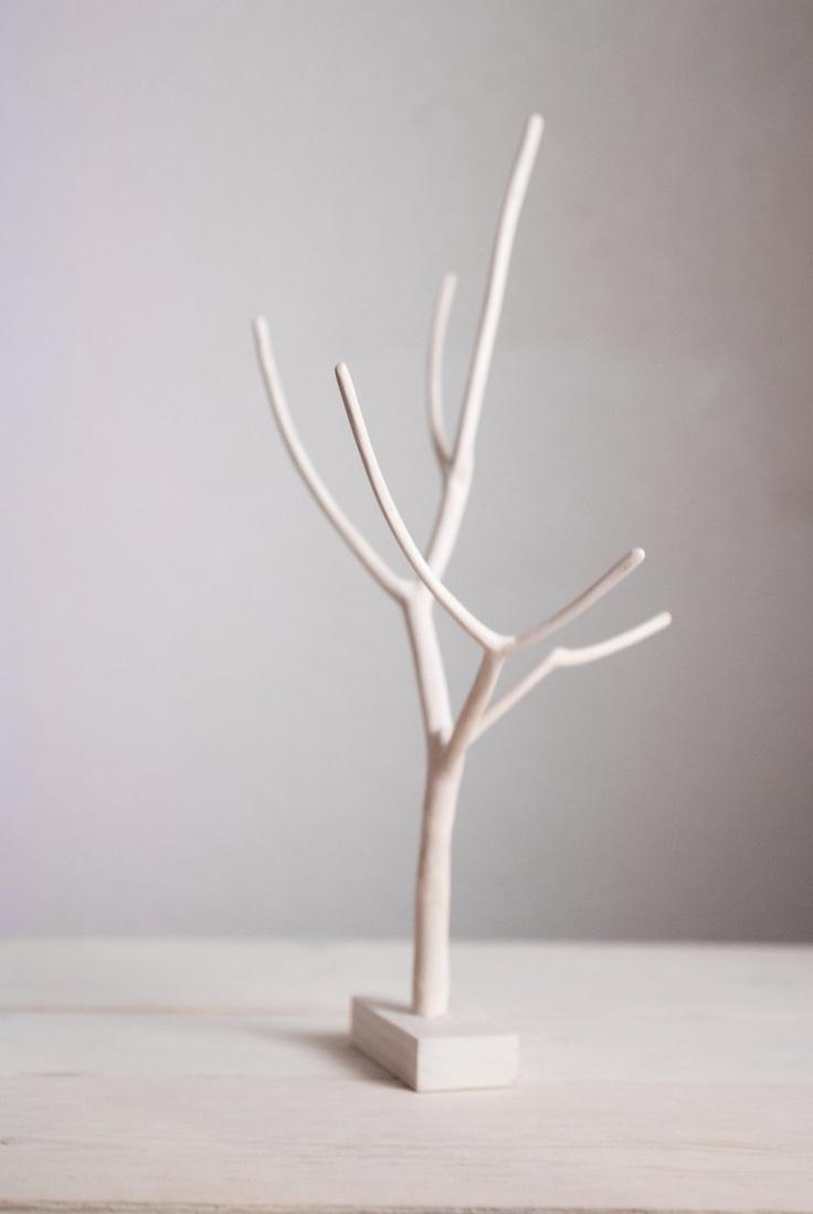 tree stand = elder branch + dowel + poplar base