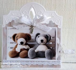 Handmade card by DT member Anja with Creatables Anja's Arch Border (LR0421) from Marianne Design