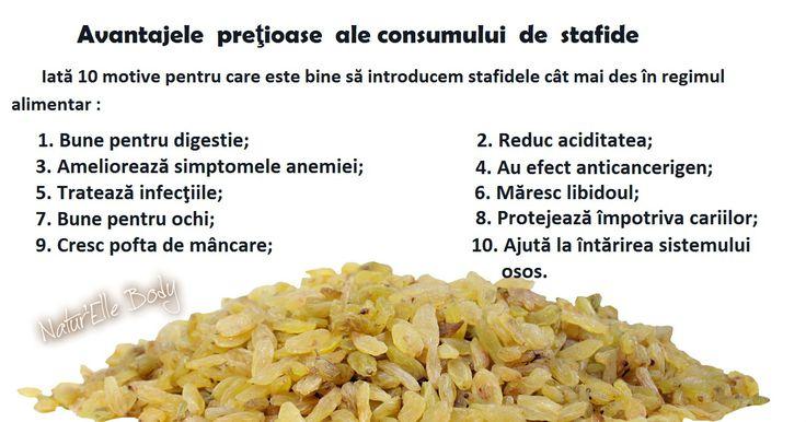 Beneficiile consumului de stafide