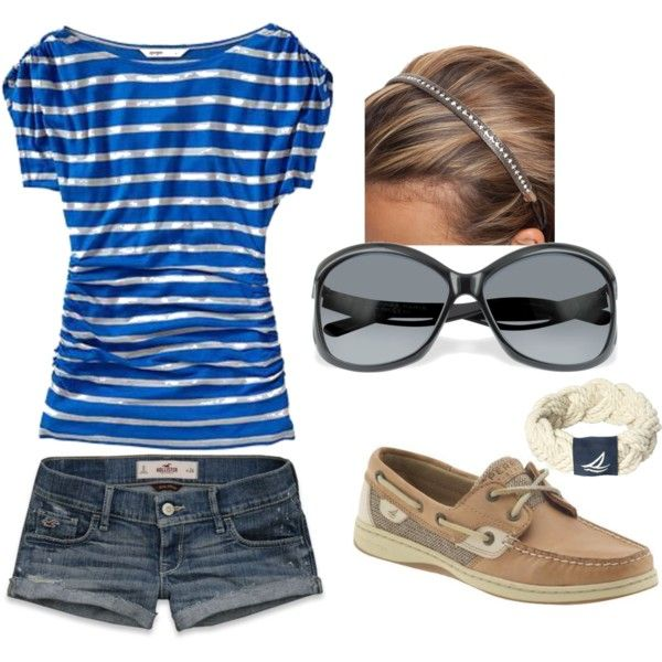 : Summer Styles, Cant Wait, Summer Looks, Boats Shoes, Shirts, Dream Closet, Cute Summer Outfit, Blue Stripes, Cute Outfit