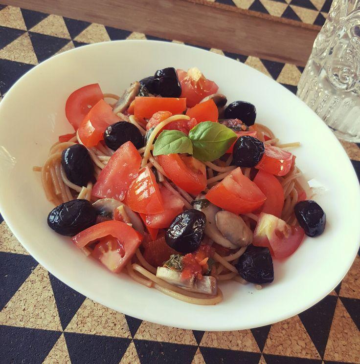 #Date# foodlove#home#olive#tomato#pasta☉❤