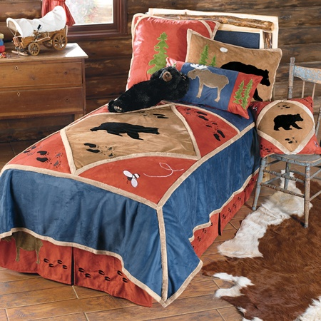 Kid S Rustic Lodge Bedding Rustic Bedding Sets Rustic