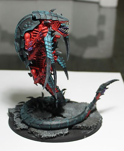 Warhammer 40k Tyranid Trygon Forge World Pro Painted Red